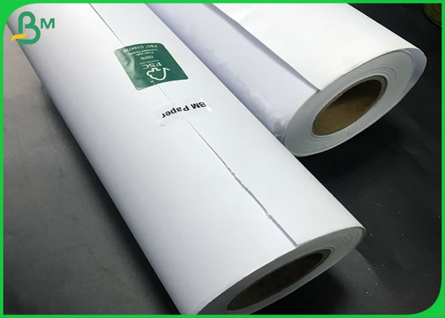 Large Format Greyish white Bond Plotter Paper 45g 60g 70g 80g for Engineering
