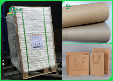 China A largura 70×100cm recicla a polpa 110gsm - papel do forro de 220gsm kraft para embalar fornecedor